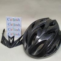 Helm Sepeda Bicycle Road Bike Helmet EPS Foam PVC Shell - wx002 -Black
