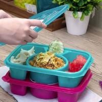 Kotak Makan BPA Free / Tempat Makan / Kotak Catering CLARIS 2703