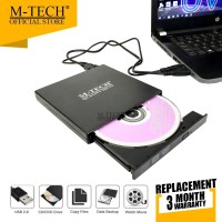 M-Tech Original Eksternal DVD RW Laptop PC USB 2.0 External DVD