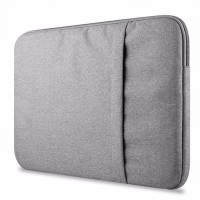 Tas Laptop 13 inch Softcase Nylon Sleeve Case - grey / Abu-abu