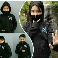 jaket sweater hodie anak alan walker ninja hitam navy merah size SML