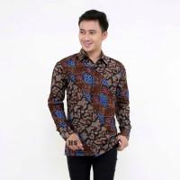 Kemeja Batik Pria Lengan Panjang AB Baju Batik Pria Batik Cowok Murah