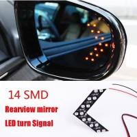 Lampu LED Sein Kaca Spion Mobil 2 PCS YELLOW