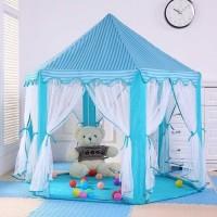 Tenda anak jumbo segi lima indoor outdoor Tirai antik nyambuk - Blue