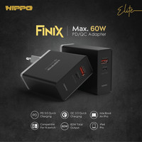 HIPPO ELITE FINIX Adapter Charger 3 Port 60 Watt / 60W QC 3.0