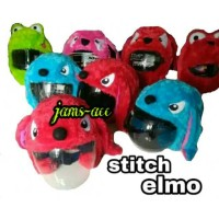COVER HELM STITCH ELMO half face full face