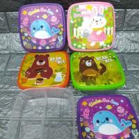 Souvenir ulang tahun kotak makan luki 2 sekat