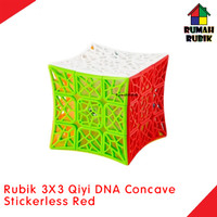 Rubik 3x3 Qiyi DNA CONCAVE Stickerless Red / Kode QY394-7SR