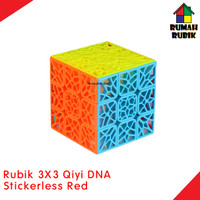 Rubik 3x3 Qiyi DNA Stickerless Red / Kode QY394-4SR