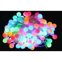 Lampu Hias Rainbow Lampu Natal Thumbler 5meter Motif Bulat