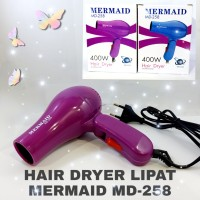PENGERING RAMBUT HAIR DRYER MINI LIPAT PORTABLE MERMAID MD-258