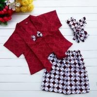 set kebaya kutu baru anak perempuan dress size M