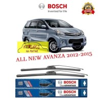 "WIPER BOSCH CLEAR ADVANTAGE TOYOTA ALL NEW AVANZA 2012-2015 21"" & 14"""