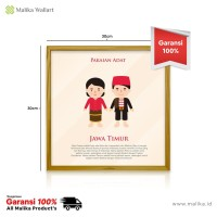Hiasan Dinding Infografis Pakaian Adat Dari Jawa Timur