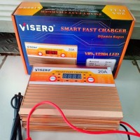 visero smart fast digital charger accu aki 12v 20a full otomatis
