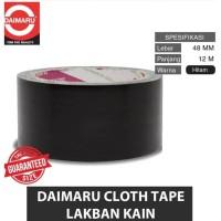 Lakban Hitam Serat Kain 2 48mm x 12m Cloth Tape - Daimaru
