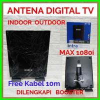 ANTENA TV DIGITAL INDOOR OUTDOOR INTRA INT-118 FREE KABEL 10M