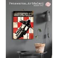Motor oli| Hiasan Pajangan Dinding Poster | Kayu | Wall Decor