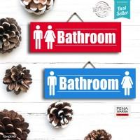 Bathroom | Hiasan Pajangan Dinding Poster | Kayu | Wall Decor