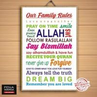Set Islami 3 | Hiasan Pajangan Dinding Poster | Kayu | Wall Decor