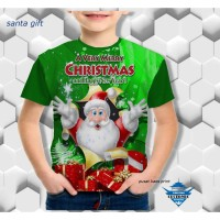 kaos santa gift kaos anak berkualitas - kaos natal - customic