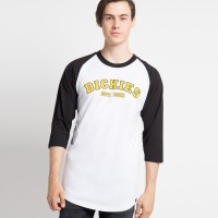 DICKIES-ORIGINS RAGLAN Kaos T-Shirt Pria - REGULAR FIT K1170104 WHBK