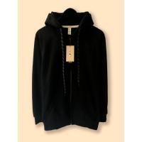 Jaket Hoodie Zipper Polos CAMOE PREMIUM & Original - Hitam Black