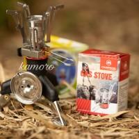 paket kompor lipat mini ultralight merk campsor plus adaptor kaki 3
