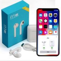Earphone Earbud TWS i11 V5.0 Nirkabel Bluetooth Smart Touch