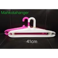 Hanger Plastik 17 Inch | Gantungan baju plastik elastis 1lusin (12pcs)