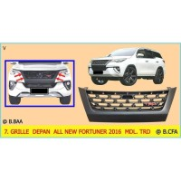 Front Grill TRD - Grille Depan Mobil All New Fortuner 2016 sd 2018
