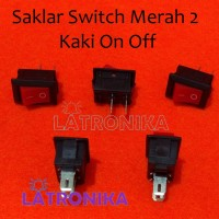 Saklar Switch Mini Merah 2 Pin KC 6A88 On Off