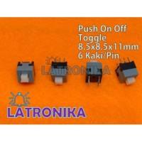 Switch DPDT Mini 6Pin Self Locking Push On Off Saklar Toggle 6 pin