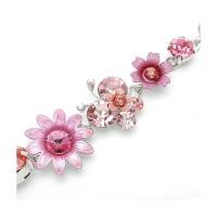 Glamorousky Gelang Bunga Kupu-Kupu dengan Kristal Pink