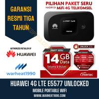 Huawei E5577 Mifi Unlock Telkomsel Free 14Gb Wifi Modem Router 4G LTE