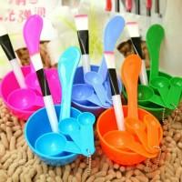 Mangkok Masker Set 4 in 1 Korean DIY MAKEUP MASK BOWL mangkuk masker