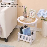 MH515 Small Round Coffee Table Meja Ngopi Bulat samping sisi MEGAHOME
