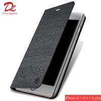 P PU Leather Case for iPhone 6 6s 7 8 Luxury Retro Magnetic Phone