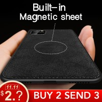 X IIOZO Magnetic Cloth Case For iPhone 7 8 Plus 6 6s XS Max XR X