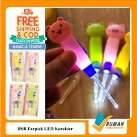 Earpick LED KARAKTER/Alat Pembersih Telinga/Korek Kuping