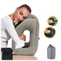 Bantal angin PELUK i845 Bantal Angin Tiup Travel Pillow Tiup Otomatis
