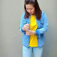 Kemeja Wanita Jeans Denim Acid