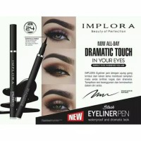 Eyeliner IMPLORA PEN Waterproof Dramatic Look BLACK Original BPOM