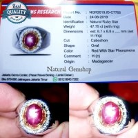 ruby star madagascar merah delima cincin batu permata asli ring perak