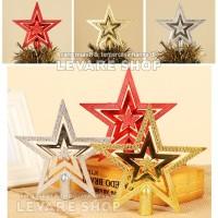 Hiasan Bintang Pohon Natal - Aksesoris Dekorasi Dekor Ornament Ornamen