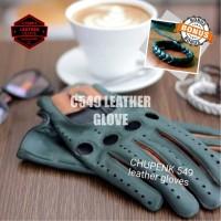 sarung tangan kulit motor caferacer 116