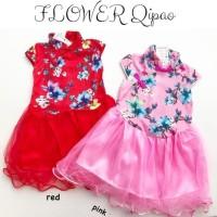 Flower Qipao / Cheongsam Anak Bayi Perempuan Murah / Dress Imlek Anak