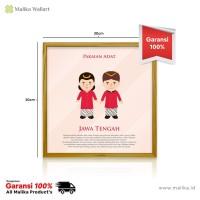 Hiasan Dinding Infografis Pakaian Adat Dari Jawa Tengah