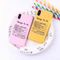 Productive Notes Case Iphone 6 6S + plus 7 8 X XR XS MAX soft simple