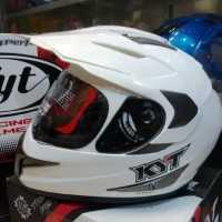 helm KYT ENDURO WHITE SOLID supermotto fullface supermotto